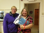 Mo Moss received a prayer shawl on behalf of Kathy Moss on 12/8/13.  Made by Hanorah Sullivan.