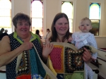 A family prayer blanket presented to The Trent Family on June 15, 2014 as they prepare to move to a new home. May this b